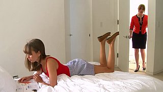 Lesbian step-mom and her cute daughter