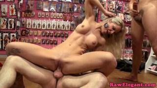 Caroline de Jaie gets double penetration