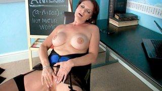 I caught my teacher rubbing her clit