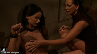 Young cutie Mandy Bright got tied up nude by her girlfriend Sheala Brill and being rudely spanked and scoffed.
