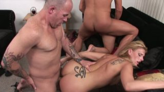 Hardcore orgy with Darryl Hanah and Bianca Dagger getting their pussies drilled deep