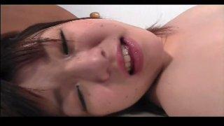 Pallid Asian nympho Kirara Shoji gets her too hairy pussy tickled