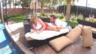 Stepbro Gives Tennis Lesson To Horny Stepsis