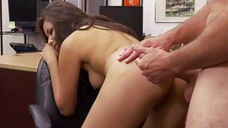 Perky tits brunette nailed by pawn guy