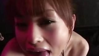 Miina Yoshihara deals cock between her lips in rough ways