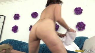 Older Anal Slut Michele Marks Stuffs Both Holes with Big Toys