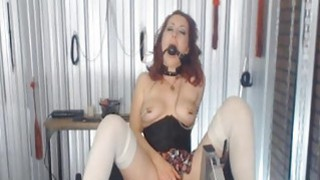 Mistress with Nipple Clamps and Ball Gags Abuses h